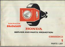 Honda CB550K (1977 >) libro Manual de piezas lista catálogo de fábrica CB 550K K3 AK01 cuatro