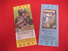 1 Lot - NFL History SUPER BOWL Replica Tickets Collection Houston Chronicle New