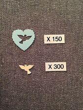 CONFETTIS Papier X 450 Mariage COEURS BLEU & COLOMBES IVOIRE Déco Table AUT21IV