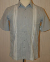 Men's George Gray Stripe Short Sleeve Button Front Shirt Size Small