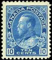 Canada #117a mint F-VF OG H 1922 King George V 10c blue Admiral Dry Printing