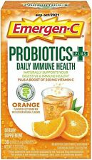 Emergen-C Probiotics+ Vitamin C 250mg 30 Count, Orange Flavor, EXP 10/2021