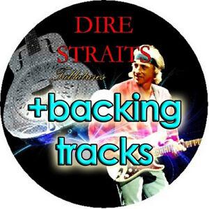 DIRE STRAITS BASS & GUITAR TAB CD TABLATURE + BACKING TRACKS GREATEST HITS BEST