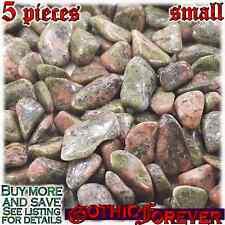 5 Small 10mm Combo Ship Tumbled Gem Stone Crystal Natural - Jasper Unakite
