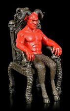 Satan Figur - Teufel Dämon Hölle Gothic Ritual Luzifer Thron rot Hörner Baphomet