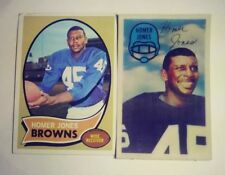 Homer Jones Football Card Set (1970 Topps & 1970 Kelloggs 3D)