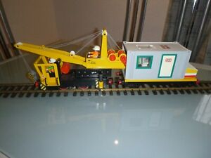 Playmobil 4053 Arbeitszug Atlaslok mit Arbeitcontainer auf Anhänger Custom
