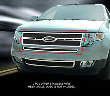 Main Upper Replacement Black Mesh Grille Grill For 07-10 Ford Edge