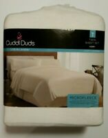 Cuddl Duds Twin Microfleece Sheet Set Cozy Layers IVORY Color New