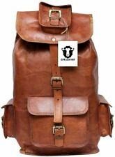 Large Genuine Leather Back Pack Rucksack Travel Bag For Men's and Women's gift