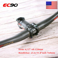 EC90 MTB Carbon Fiber Handlebar 25.4/31.8*660-760mm 6/17° Stem T800 Carbon US