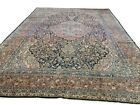 10' x 14' HANDMADE ANTIQUE WOOL ORIENTAL RUG RED AND BLUE A-10010