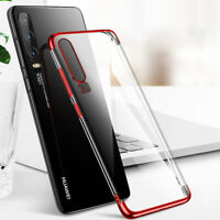 For Huawei P30 Pro P20 Lite P Smart 2019 Plating Silicone Slim Clear Case Cover