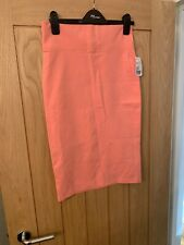 BNWT Coral Jersey Pencil/tube Skirt By Forever 21, Size M (10)