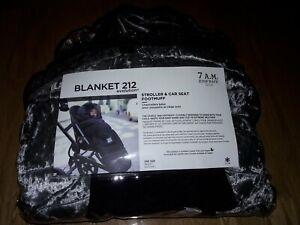 7Am Enfant Stroller & Car Seat Footmuff Blanket 212 Evolution In Grey Velvet
