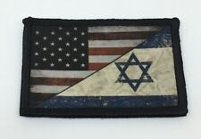 USA Israel Flag Morale Patch Tactical Military Army Badge Hook