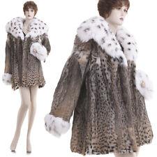 NEW! Large! Beautiful Lux Glam Sensual Lynx Fur w/Fox Trim Stroller/Jacket/Coat