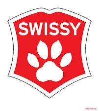 Greater Swiss Mountain Dog Car Decal. Swissy Sticker.