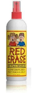 Red Erase Stain Remover Safe for Children & Pets Biodegradable 12 oz Bottle H121
