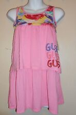 Guess Jeans Girls Empire Waist Tiered Dress Pink & Rose M/10-12 NWT