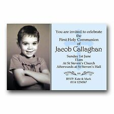 10 Personalised Invitations Invites 1st First Holy Communion H121 - Add a photo