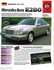 MERCEDES BENZ E Series BROCHURES Collection: E55,E280,E-55,280,AMG,