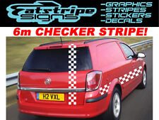 6m CHECKER VAUXHALL ASTRA VAN GRAPHICS STICKERS DECALS STRIPES MX MOTOCROSS GSI