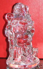"WATERFORD CRYSTAL, SANTA SCULPTURE 2002, 2nd EDITION VERY RARE, MINT 7""  #108711"
