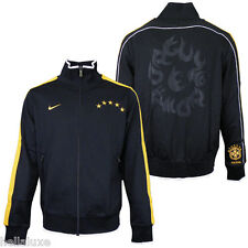 RARE~Nike BRAZIL N98 Soccer Track shirt sweat Jersey Jacket Brasil Top~Mens sz S