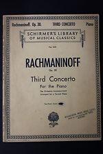 SHEET MUSIC BOOK: Rachmaninioff op. 30 3 Concerto for Piano Schirmer