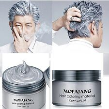Professional Silver Grey Hair Wax Hair Pomades Natural Hairstyle Men Women Wax