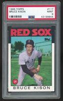 1986 Topps #117 Bruce Kison Boston Red Sox PSA 9 MINT SET BREAK QTY Available