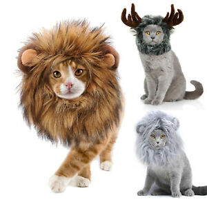 Lion Mane for Cats, Funny Halloween Costume for Cats, Snoods for Cats