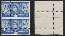 GB 5407 - 1957 SCOUT JAMBOREE 4d with DOUBLE PERFS VARIETY (Forgery) u/m pair