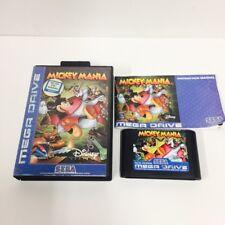 Sega Mega Drive Game - Mickey Mania - Sony EU PAL Genesis Disney
