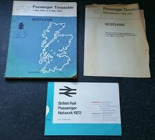 Passenger timetable for Scotland 1/5/72 - 6/5/73 with network map & alterations