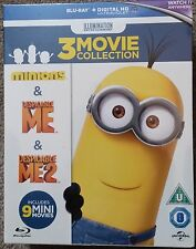Minions Collection (Despicable Me/Despicable Me 2/Minions) Blu-ray NEW!
