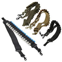 Tactical Shotgun Shell Nylon Sling 12Ga 20Ga Ammo Holder Bandolier Belt Strap