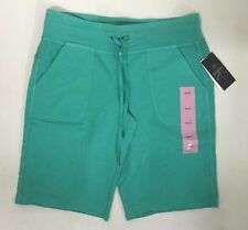 Womens Calvin Klein Cotton Knit Shorts Bermuda Green Size Small S
