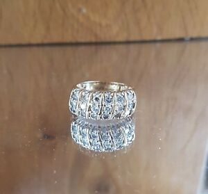 Stunning HEAVY 14ct gold 1.44ct 18 diamond cluster ring FREE SIZING