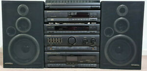 VINTAGE KENWOOD HIFI COMPONENT SYSTEM RADIO CASSETTE COMPACT DISC RECORD PLAYER