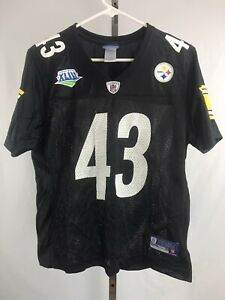 Troy Polamalu #43 Pittsburgh Steelers Reebok NFL Jersey Womens Size Large,    B7