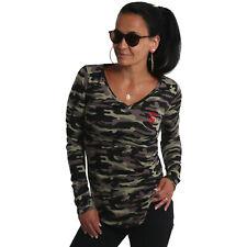 Neues Yakuza Damen Conceal Langarm T-Shirt - Camouflage
