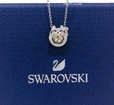 Authentic SWAROVSKI Rhodium Sparkling Dance Lucky Cat Pendant Necklace 5515438