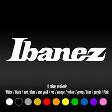 "6"" Ibanez Guitar Car Laptop Window Bumper Diecut Vinyl Decal sticker"
