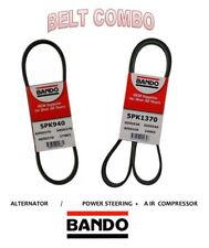CHRYSLER SEBRING & DODGE STRATUS 01-05 L4 2.4L BANDO Belt Set  2 Pc ALT/ PS/AC