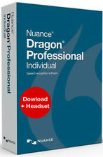Nuance Dragon Professional Individual 14 - Keycode with Headset, New!