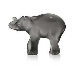 LALIQUE CRYSTAL TIMORA GREY BABY ELEPHANT #10492700 BRAND NIB CUTE SAVE$$ F/SH