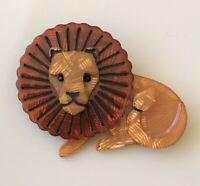 Unique Lion  Brooch  Pin In acrylic