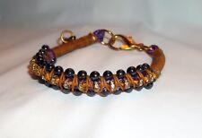 New Anthropologie Beaded Friendship Bracelet Beaded Black Pearls